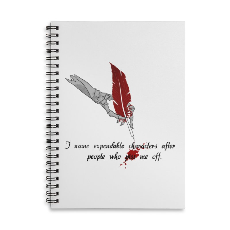 Expendable Characters - Black Accessories Notebook by P.L. McMillan's Artist Shop