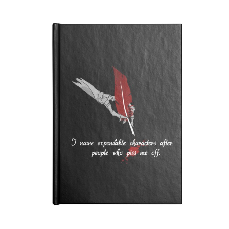 Expendable Characters - White Accessories Notebook by P.L. McMillan's Artist Shop