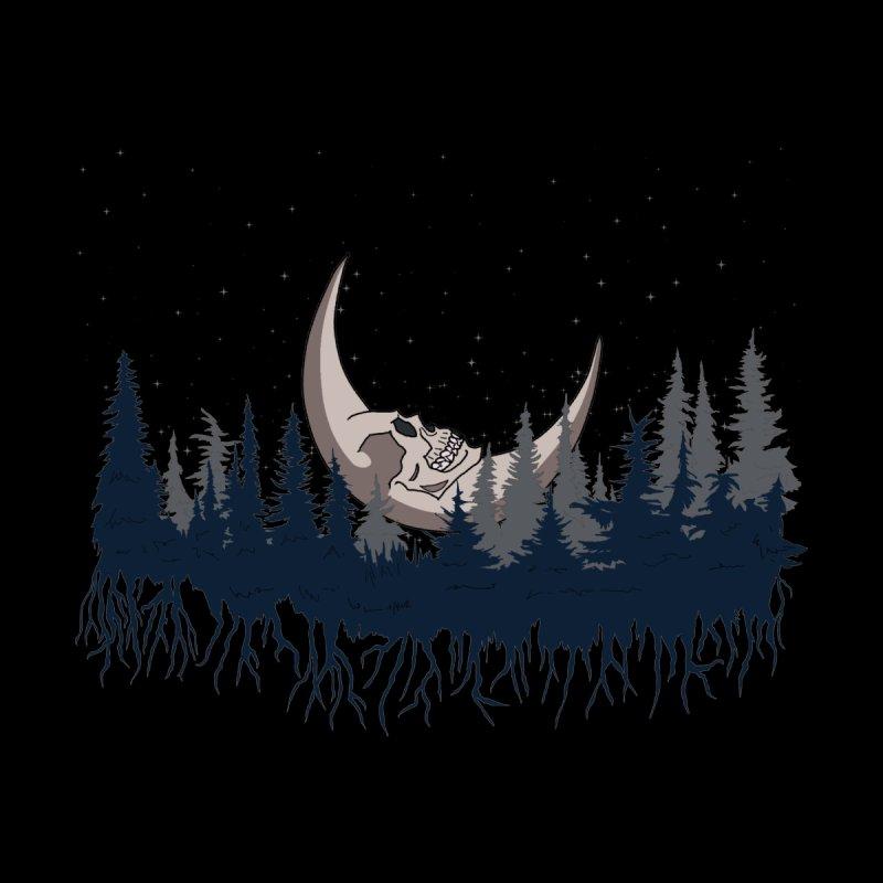 Bone Moon Rising Men's T-Shirt by P.L. McMillan's Artist Shop