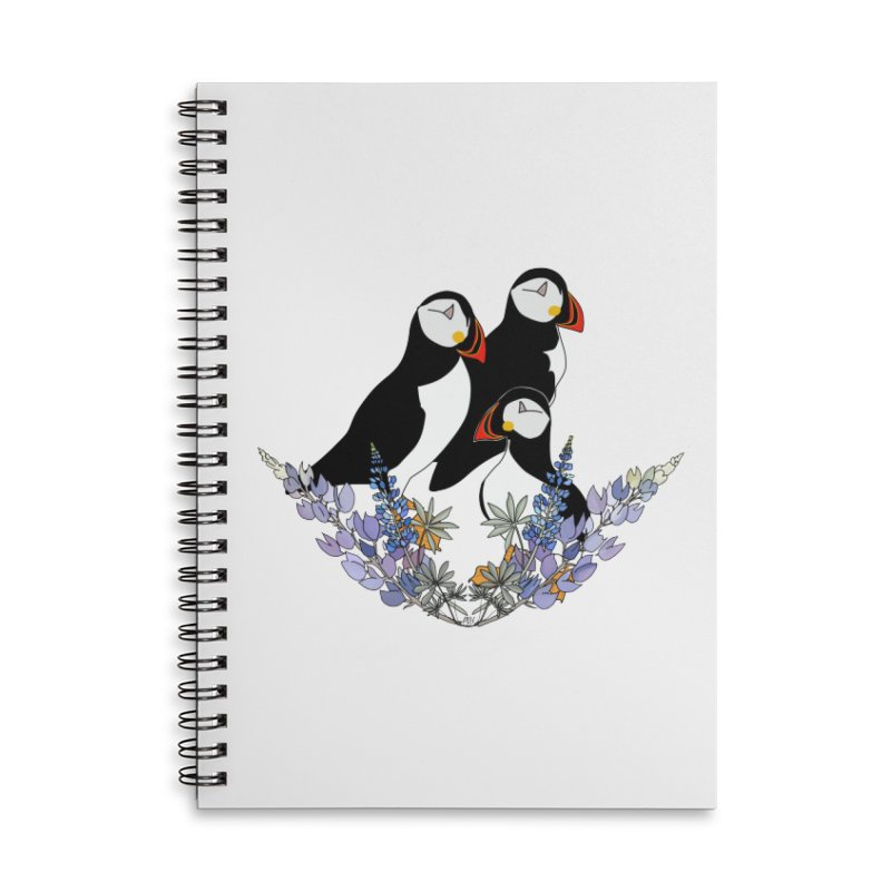 Mother Puffin Accessories Notebook by P.L. McMillan's Artist Shop