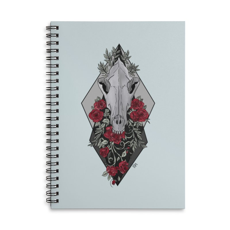 Wolf's Skull Accessories Notebook by P.L. McMillan's Artist Shop