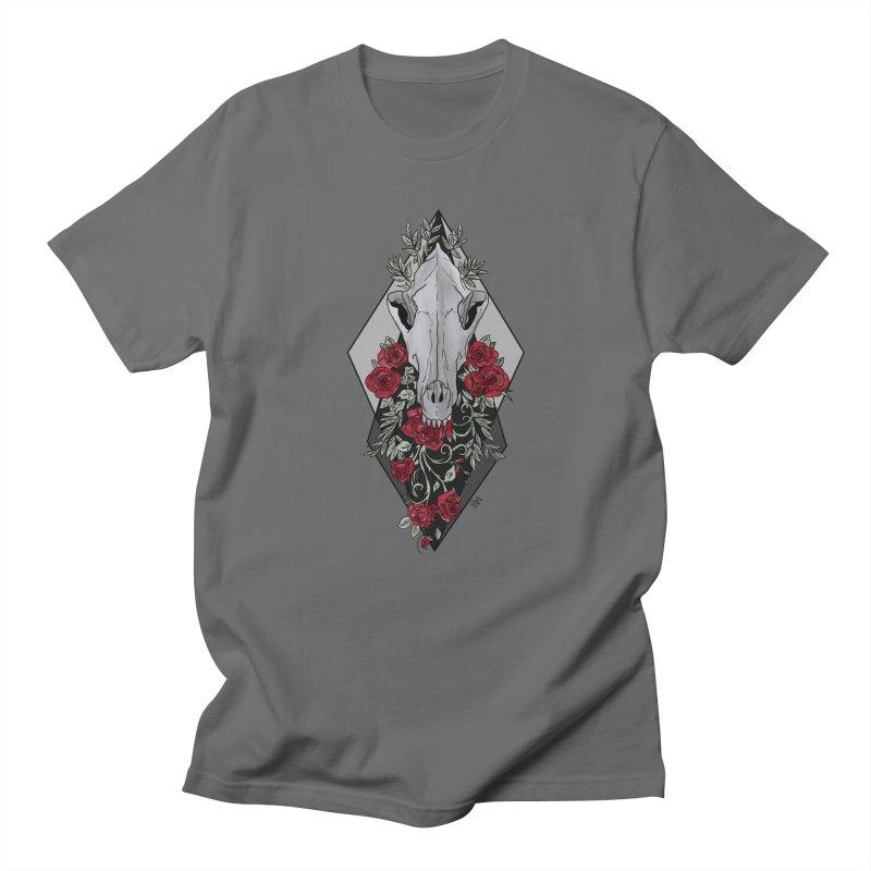 Wolf's Skull Men's T-Shirt by P.L. McMillan's Artist Shop