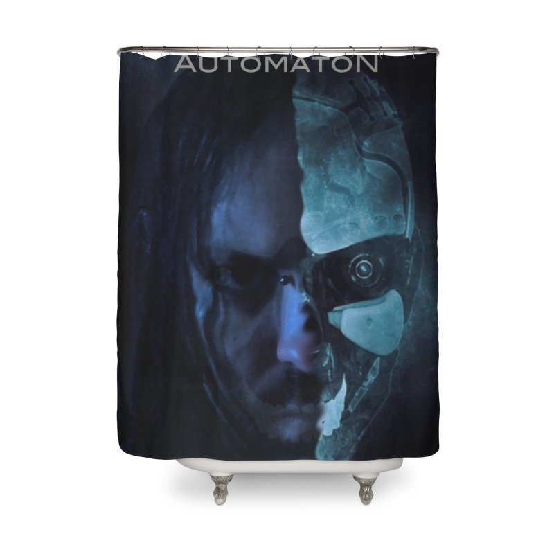 AutomatoN E.V.Olution human machine Home Shower Curtain by automatonofficial's Artist Shop