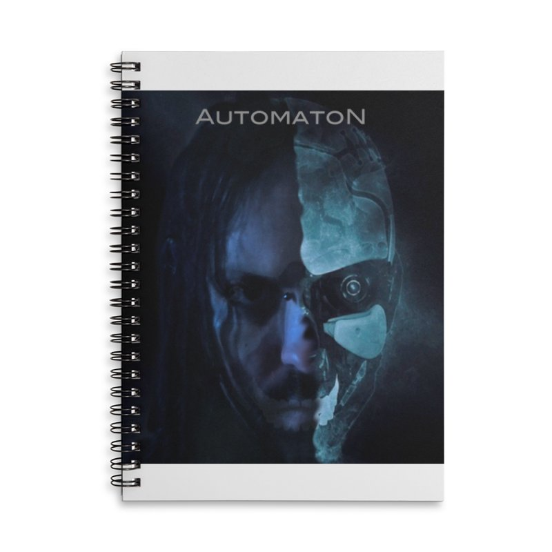 AutomatoN E.V.Olution human machine Accessories Lined Spiral Notebook by automatonofficial's Artist Shop