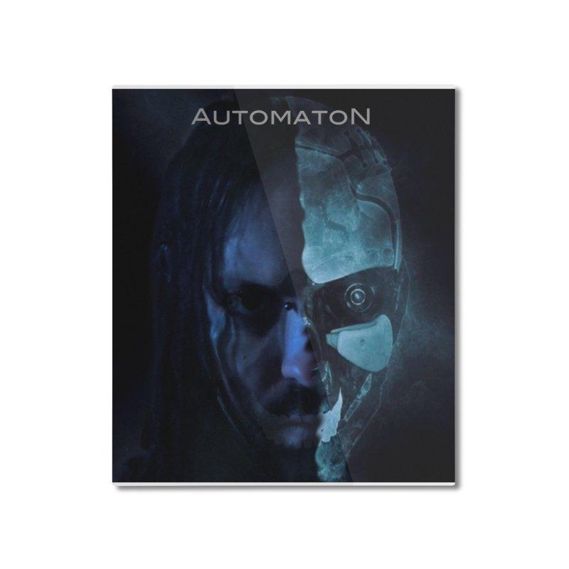 AutomatoN E.V.Olution human machine Home Mounted Aluminum Print by automatonofficial's Artist Shop