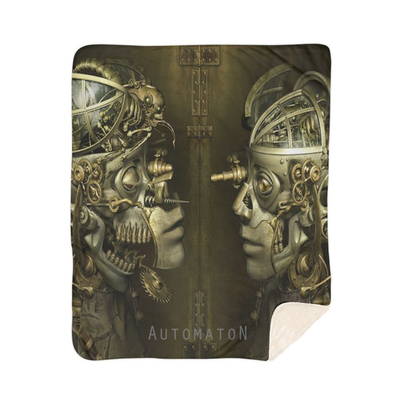 AutomatoN Chapter 1 cover Home Sherpa Blanket Blanket by automatonofficial's Artist Shop