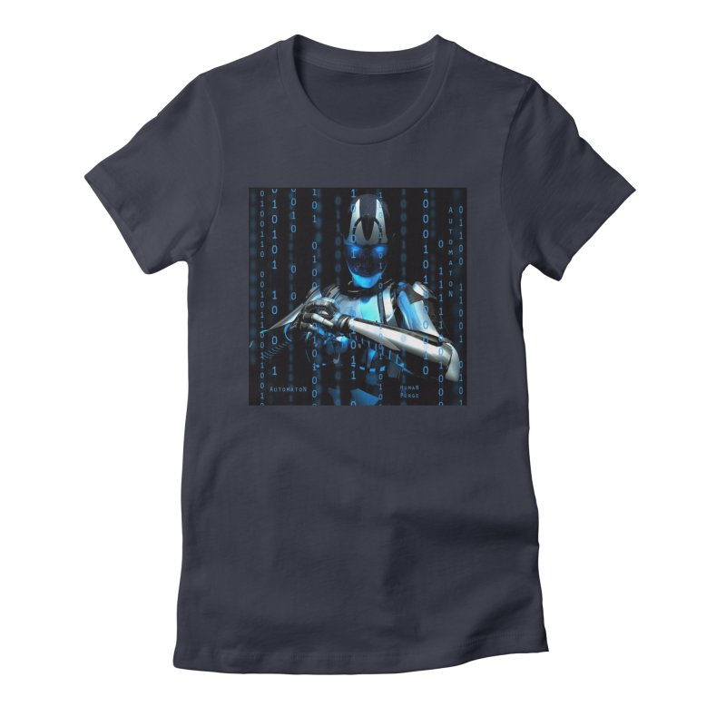 AutomatoN Chapter 2: Human Purge cover Women's Fitted T-Shirt by automatonofficial's Artist Shop