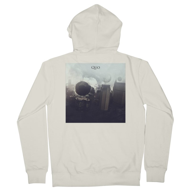 Quo Self Titled cover Women's French Terry Zip-Up Hoody by automatonofficial's Artist Shop