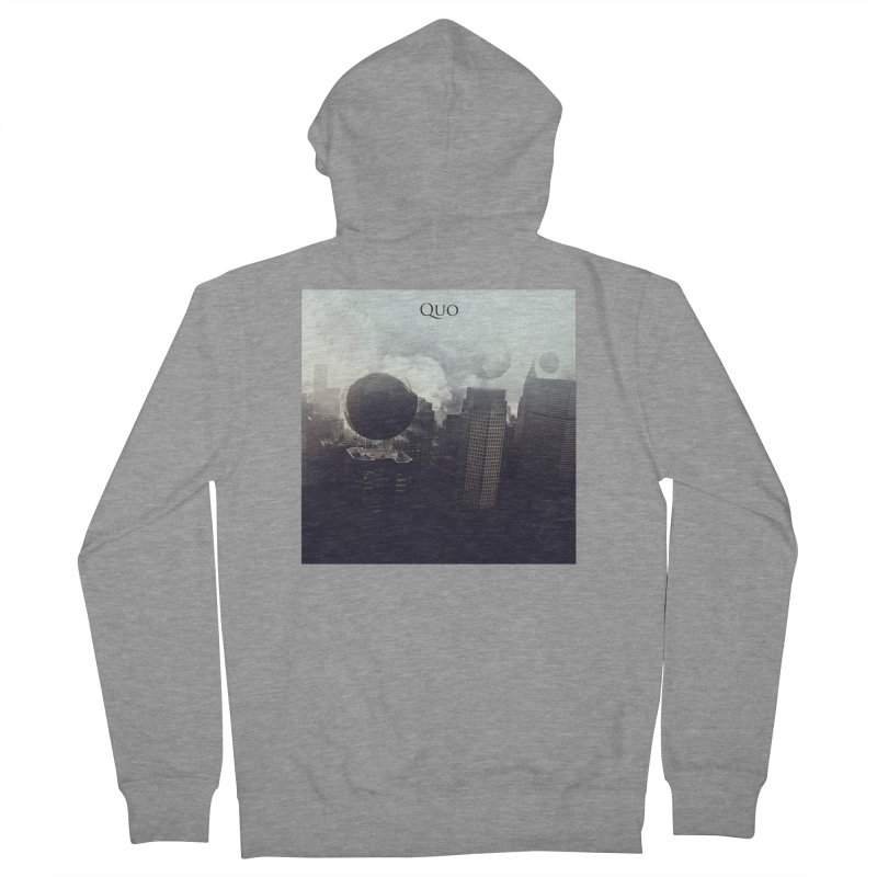Quo Self Titled cover Men's French Terry Zip-Up Hoody by automatonofficial's Artist Shop