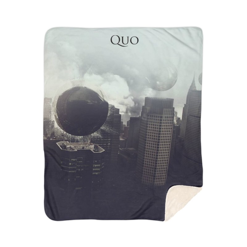 Quo Self Titled cover Home Sherpa Blanket Blanket by automatonofficial's Artist Shop