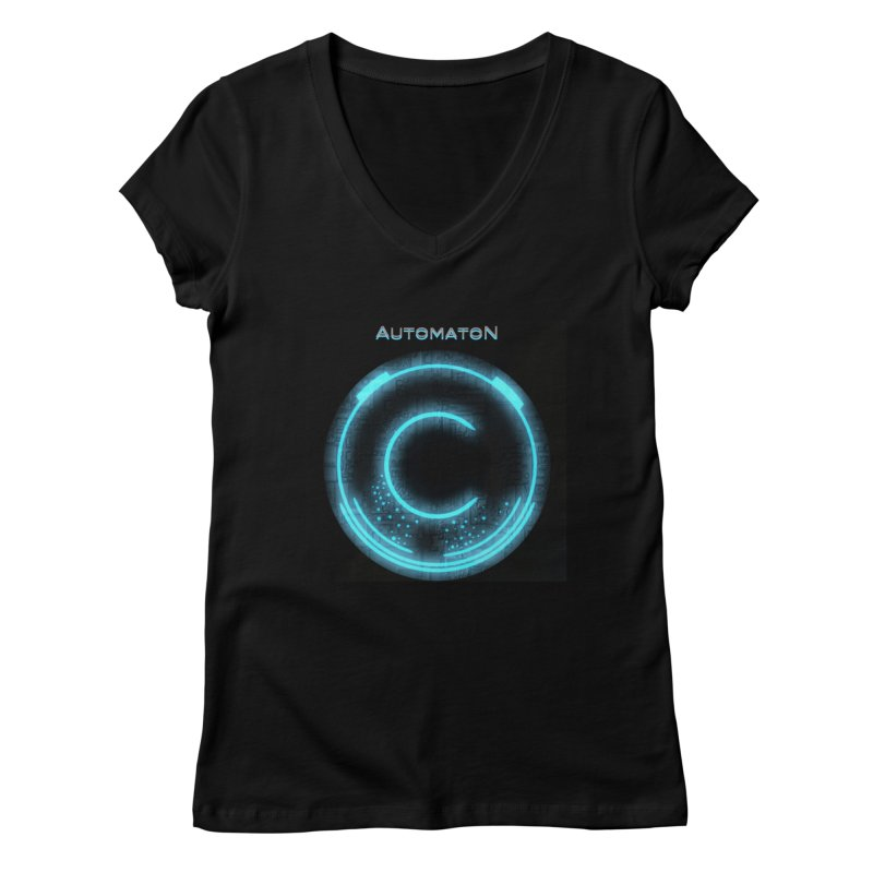 AutomatoN power button Women's Regular V-Neck by automatonofficial's Artist Shop