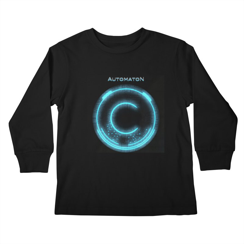 AutomatoN power button Kids Longsleeve T-Shirt by automatonofficial's Artist Shop