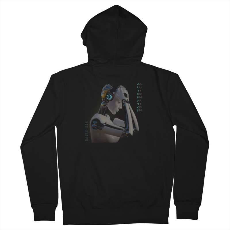 Ego Verus album cover Men's French Terry Zip-Up Hoody by automatonofficial's Artist Shop