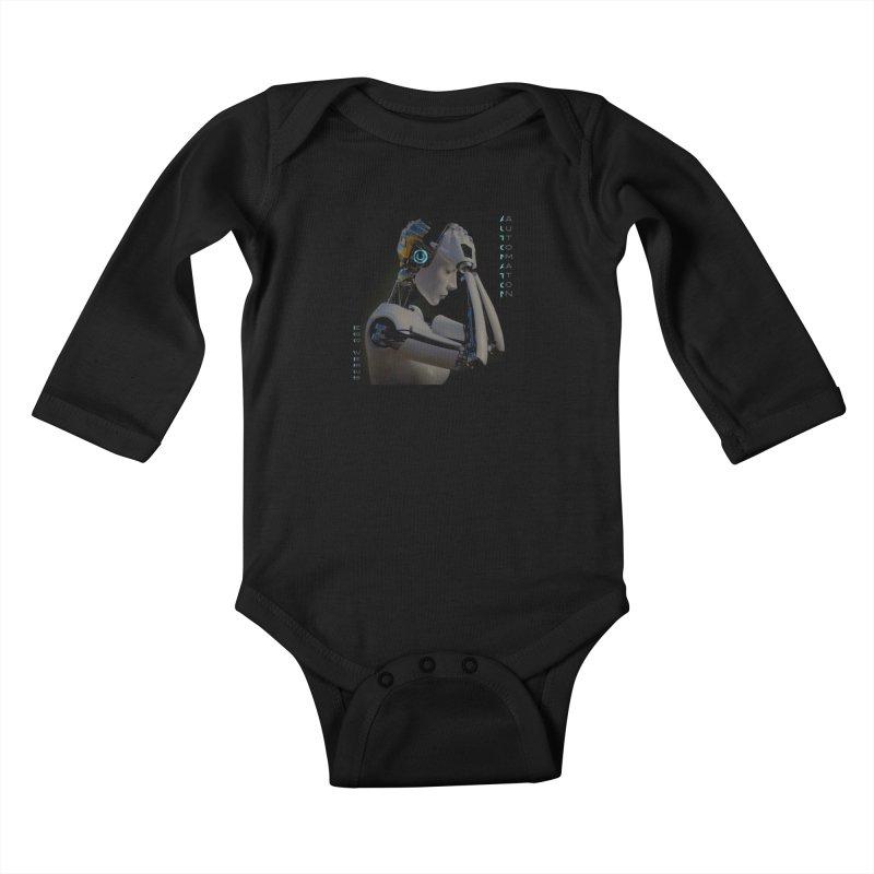 Ego Verus album cover Kids Baby Longsleeve Bodysuit by automatonofficial's Artist Shop