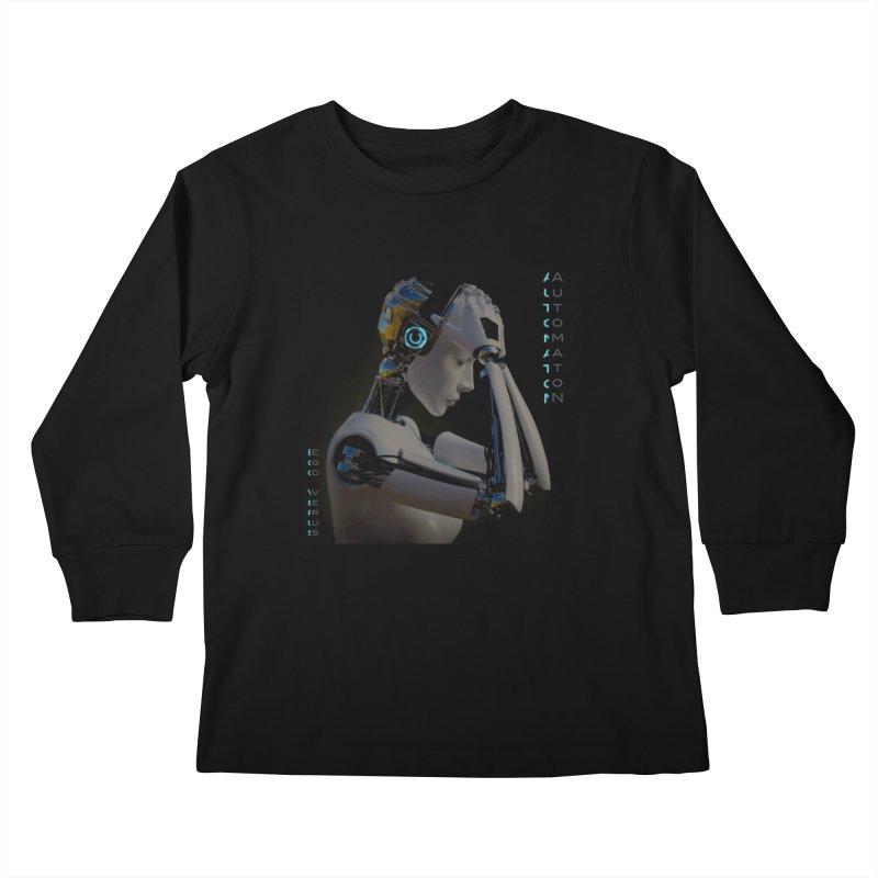Ego Verus album cover Kids Longsleeve T-Shirt by automatonofficial's Artist Shop