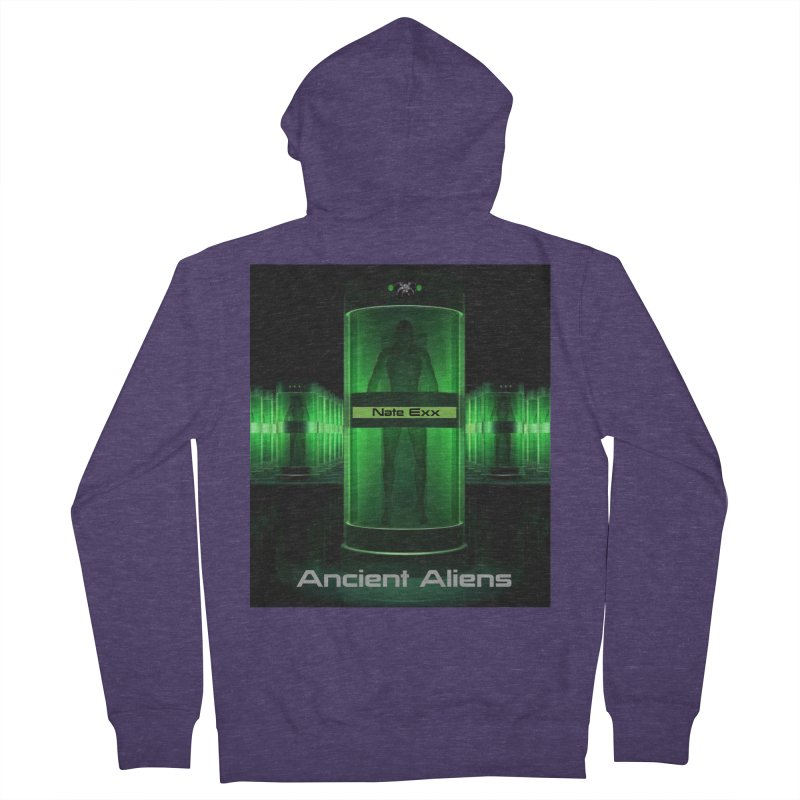 Ancient Aliens Men's French Terry Zip-Up Hoody by automatonofficial's Artist Shop