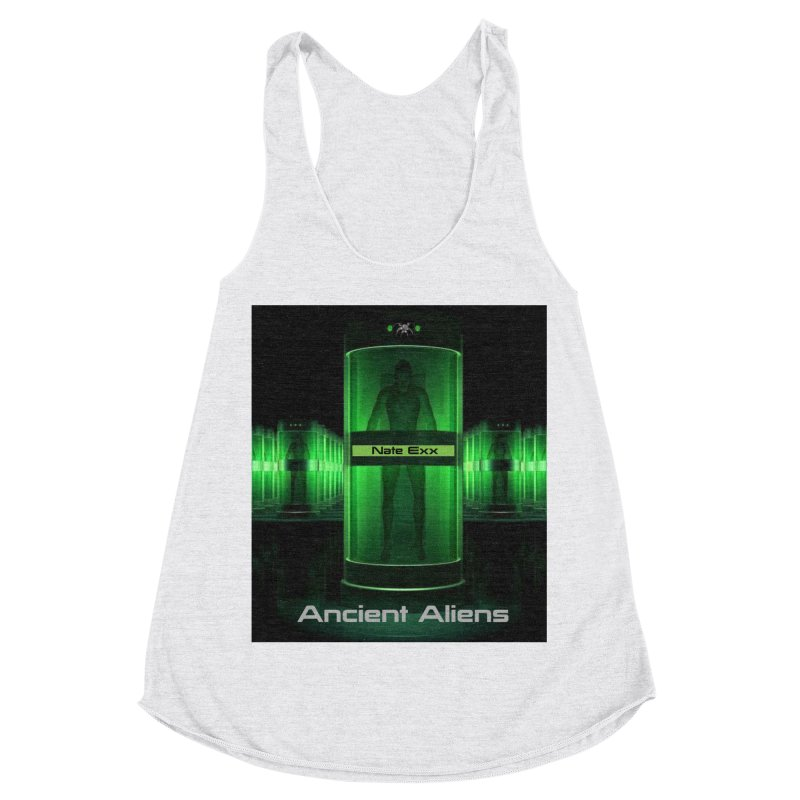 Ancient Aliens Women's Racerback Triblend Tank by automatonofficial's Artist Shop