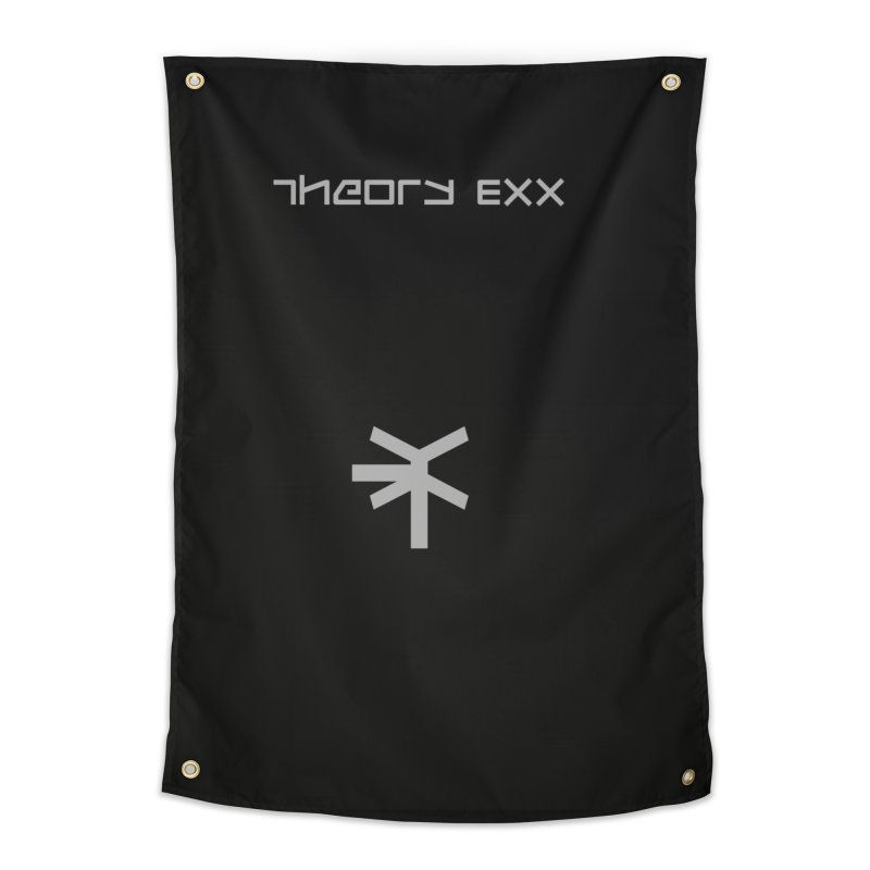 Theory Exx Logo Home Tapestry by automatonofficial's Artist Shop