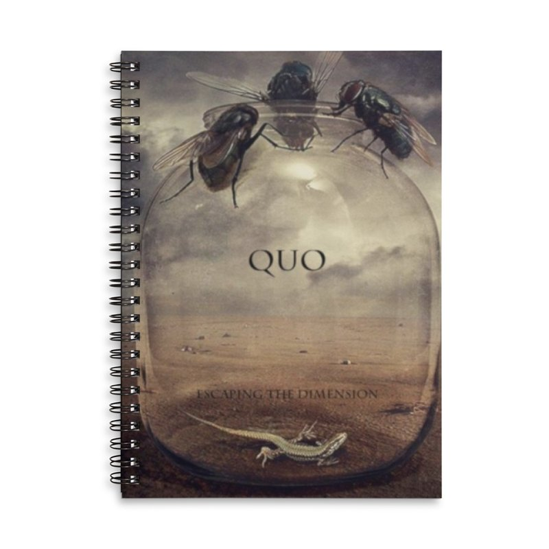 Quo Escaping the Dimension Accessories Lined Spiral Notebook by automatonofficial's Artist Shop