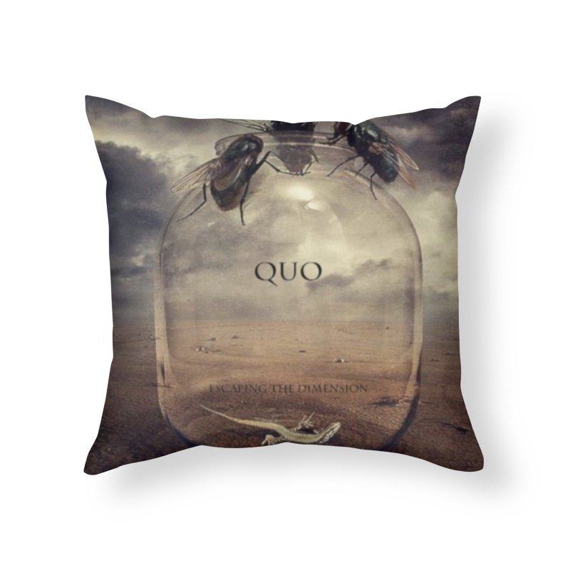 Quo Escaping the Dimension Home Throw Pillow by automatonofficial's Artist Shop