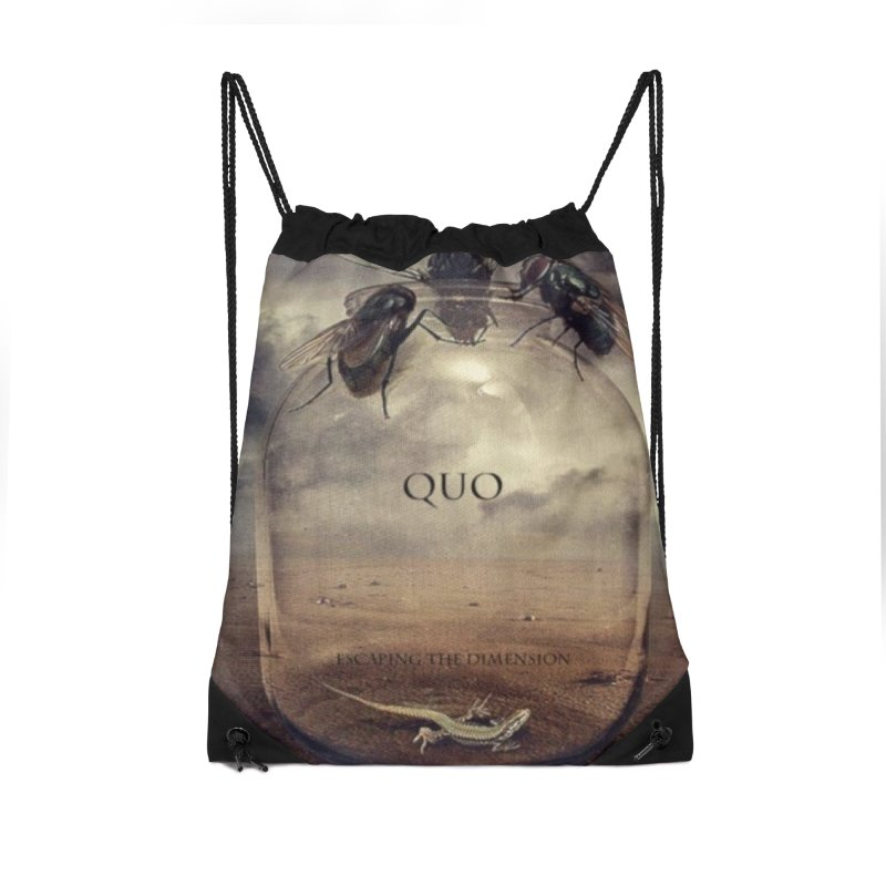 Quo Escaping the Dimension Accessories Drawstring Bag Bag by automatonofficial's Artist Shop
