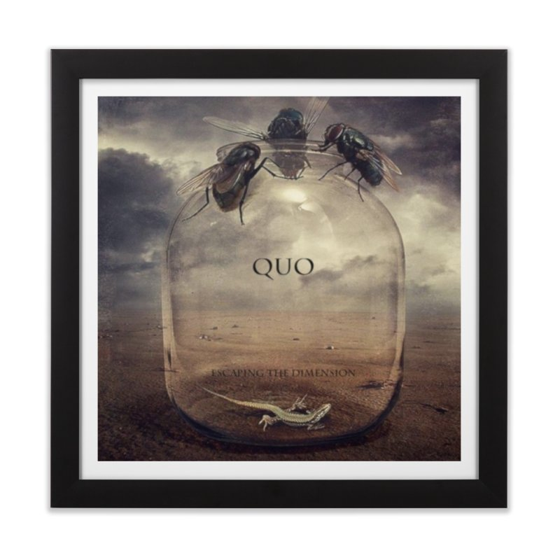 Quo Escaping the Dimension Home Framed Fine Art Print by automatonofficial's Artist Shop