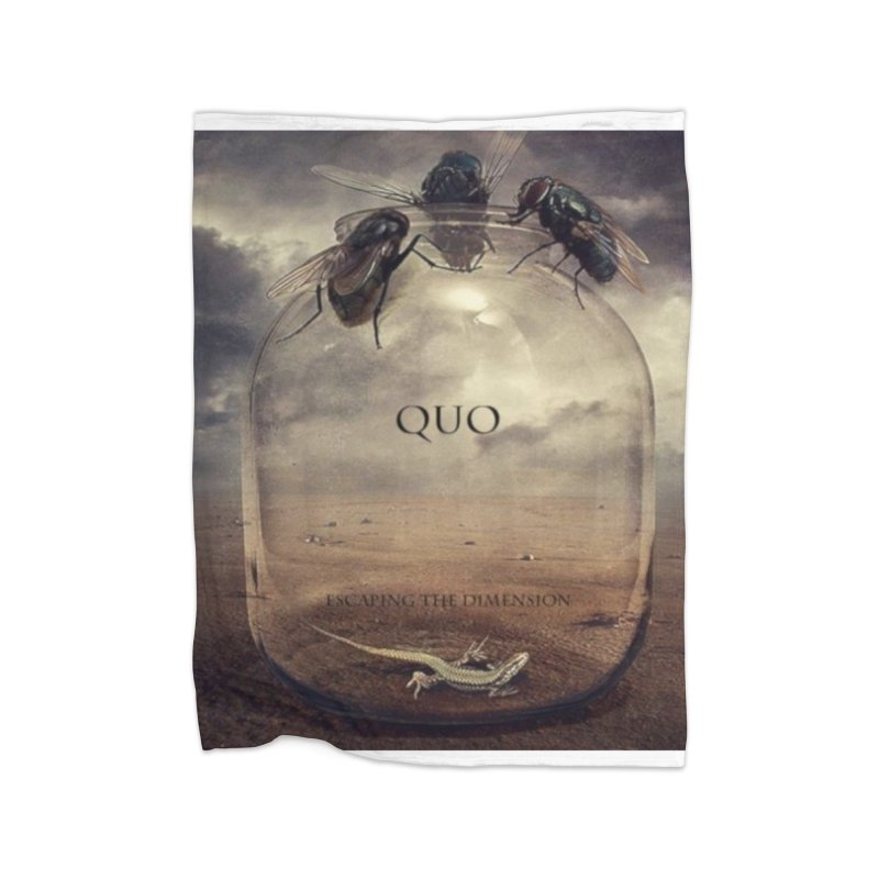 Quo Escaping the Dimension Home Fleece Blanket Blanket by automatonofficial's Artist Shop
