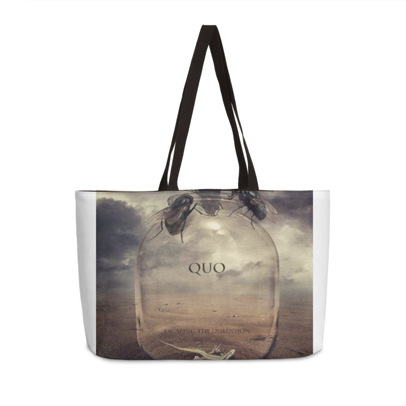 Quo Escaping the Dimension Accessories Weekender Bag Bag by automatonofficial's Artist Shop