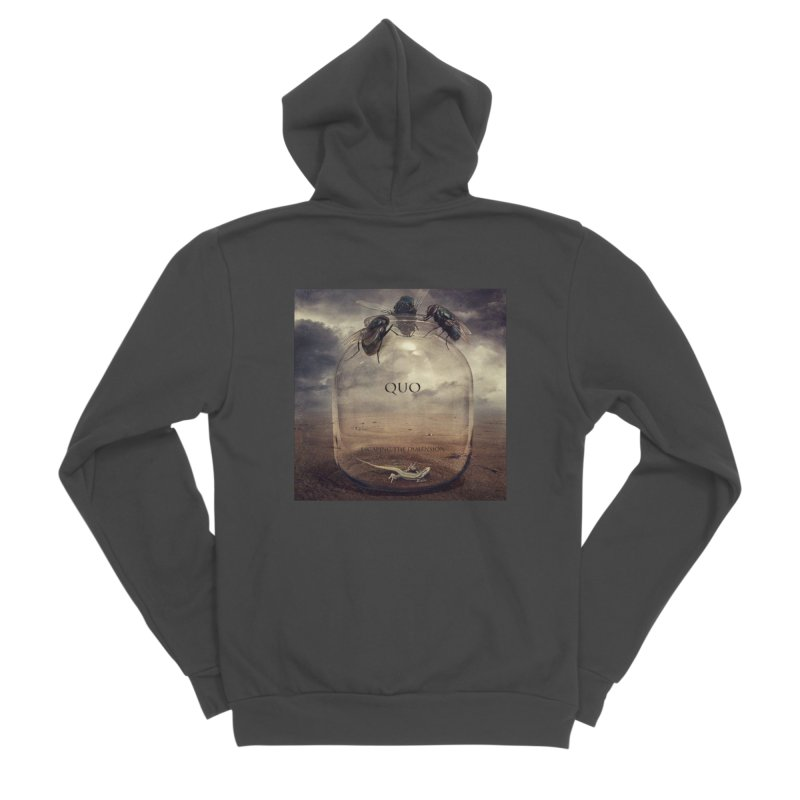 Quo Escaping the Dimension Women's Sponge Fleece Zip-Up Hoody by automatonofficial's Artist Shop