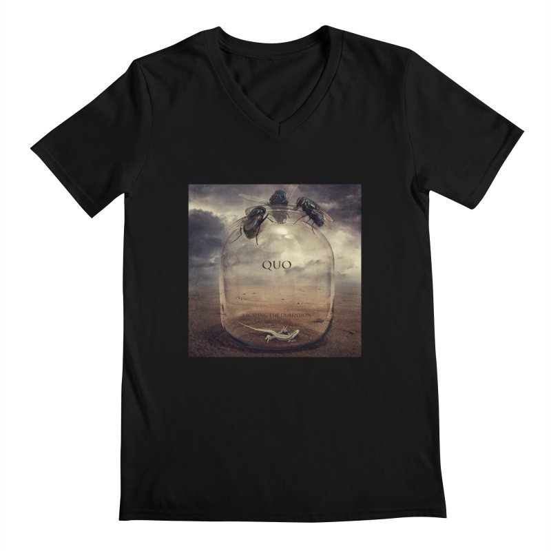Quo Escaping the Dimension Men's Regular V-Neck by automatonofficial's Artist Shop