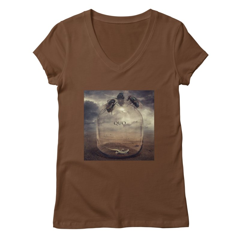 Quo Escaping the Dimension Women's Regular V-Neck by automatonofficial's Artist Shop