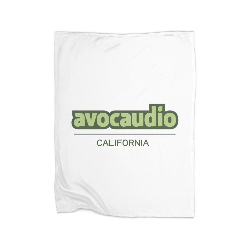 Avocaudio Logo 2 Home Fleece Blanket by Avocaudio