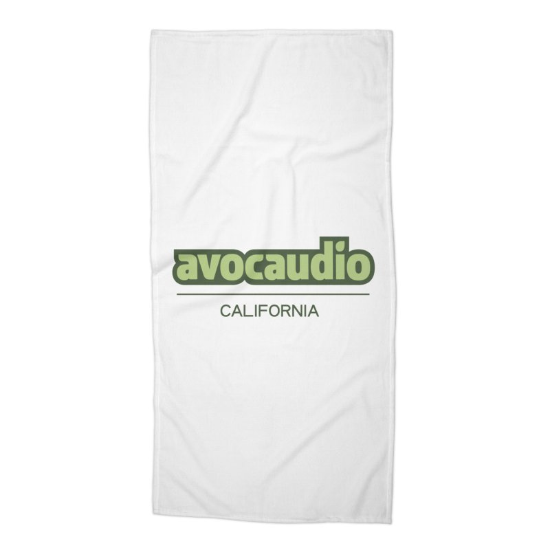 Avocaudio Logo 2 Accessories Beach Towel by Avocaudio