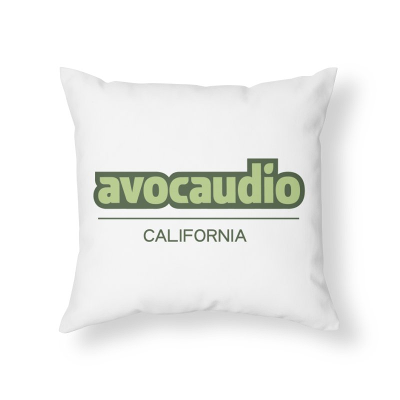 Avocaudio Logo 2 Home Throw Pillow by Avocaudio