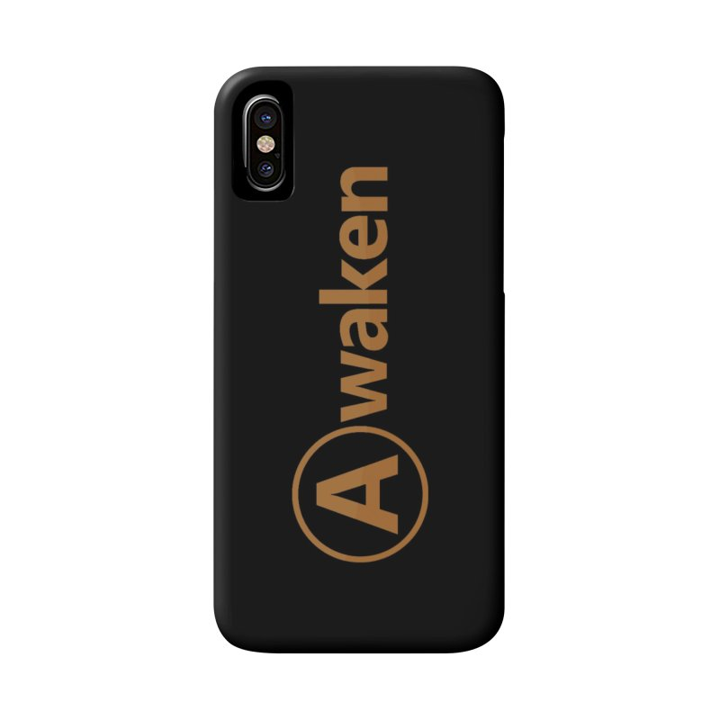 Awaken Orange Accessories Phone Case by Awakencon's Artist Shop