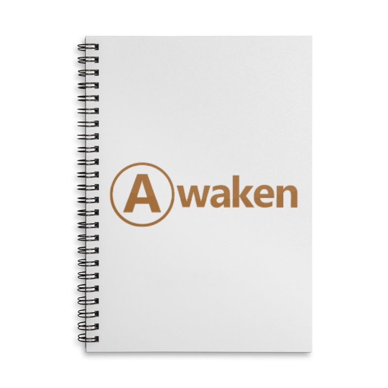 Awaken Orange Accessories Lined Spiral Notebook by Awakencon's Artist Shop