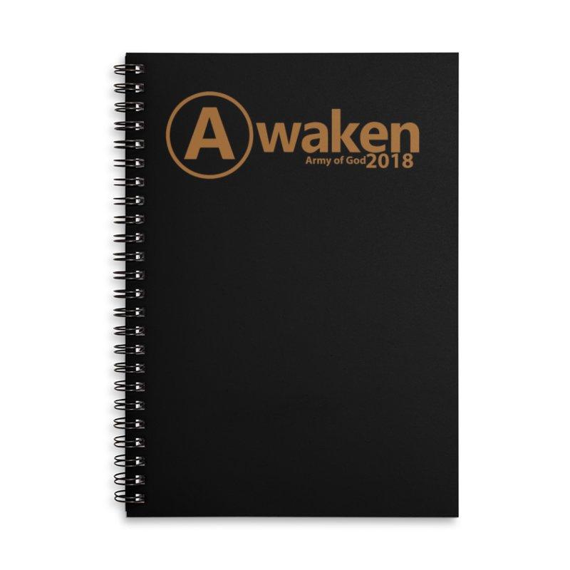 Awaken 2018 in Lined Spiral Notebook by Awakencon's Artist Shop