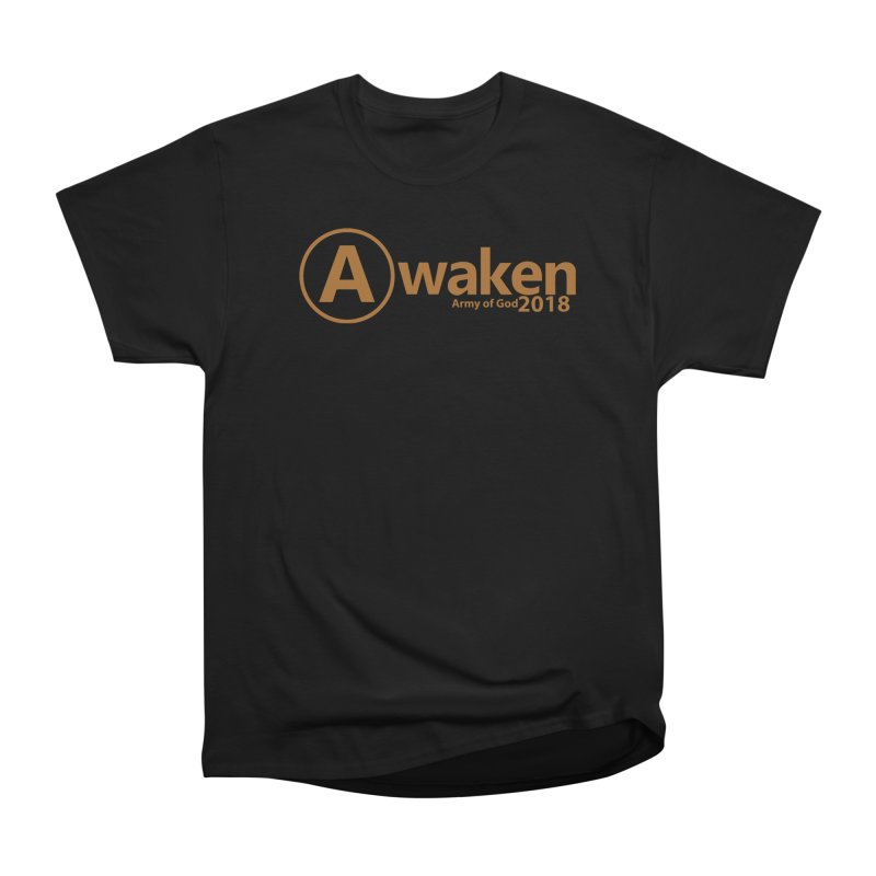 Awaken 2018 in Women's Heavyweight Unisex T-Shirt Black by Awakencon's Artist Shop