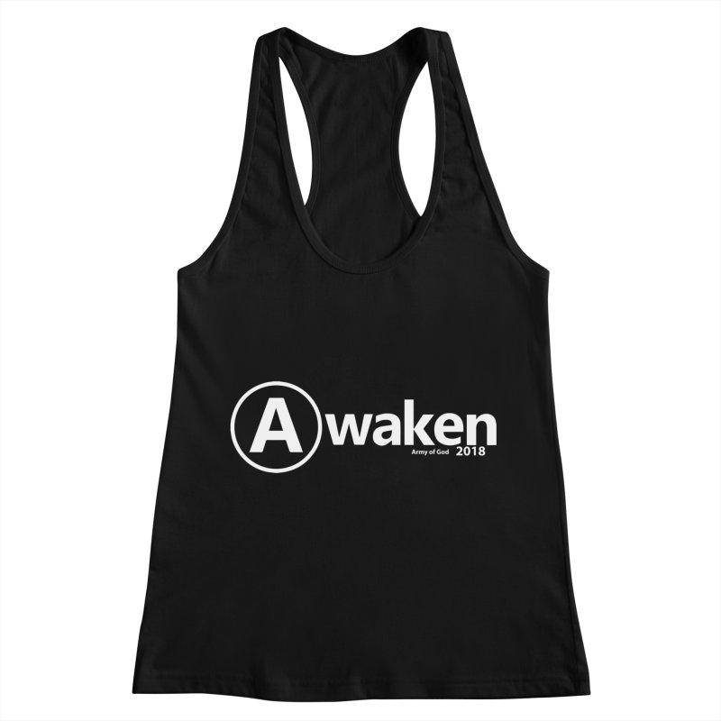 Default Awaken in Women's Racerback Tank Black by Awakencon's Artist Shop