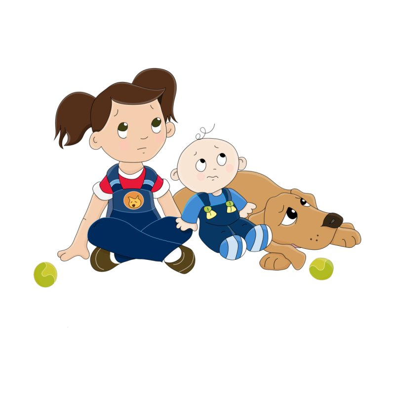 Millie and baby Max- Triple Trouble None  by