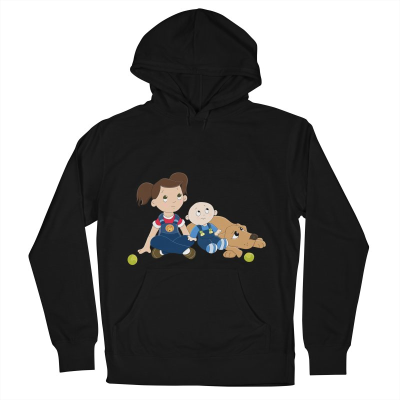 Millie and baby Max- Triple Trouble Women's Pullover Hoody by