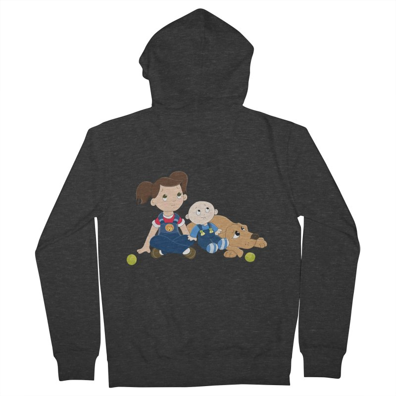 Millie and baby Max- Triple Trouble Women's Zip-Up Hoody by