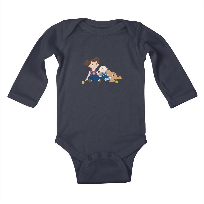 Millie and baby Max- Triple Trouble Kids Baby Longsleeve Bodysuit by