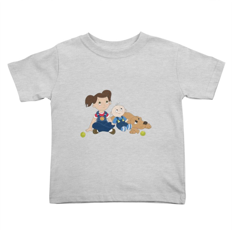Millie and baby Max- Triple Trouble Kids Toddler T-Shirt by