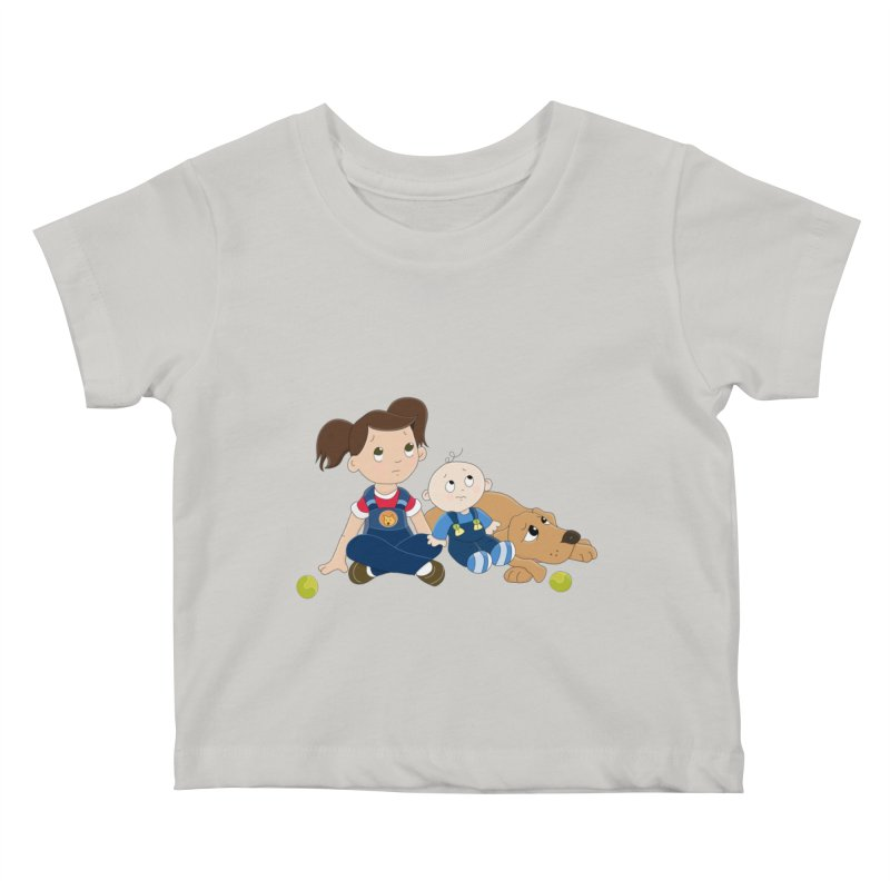 Millie and baby Max- Triple Trouble Kids Baby T-Shirt by