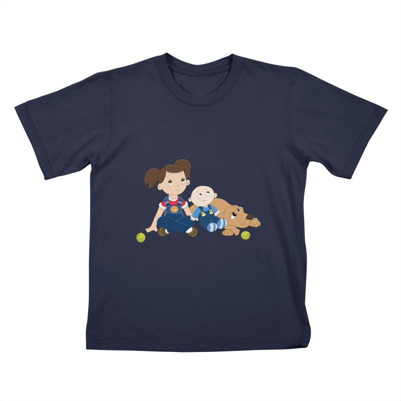 Millie and baby Max- Triple Trouble Kids T-Shirt by