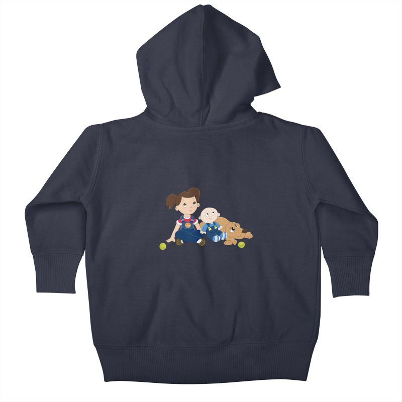 Millie and baby Max- Triple Trouble Kids Baby Zip-Up Hoody by