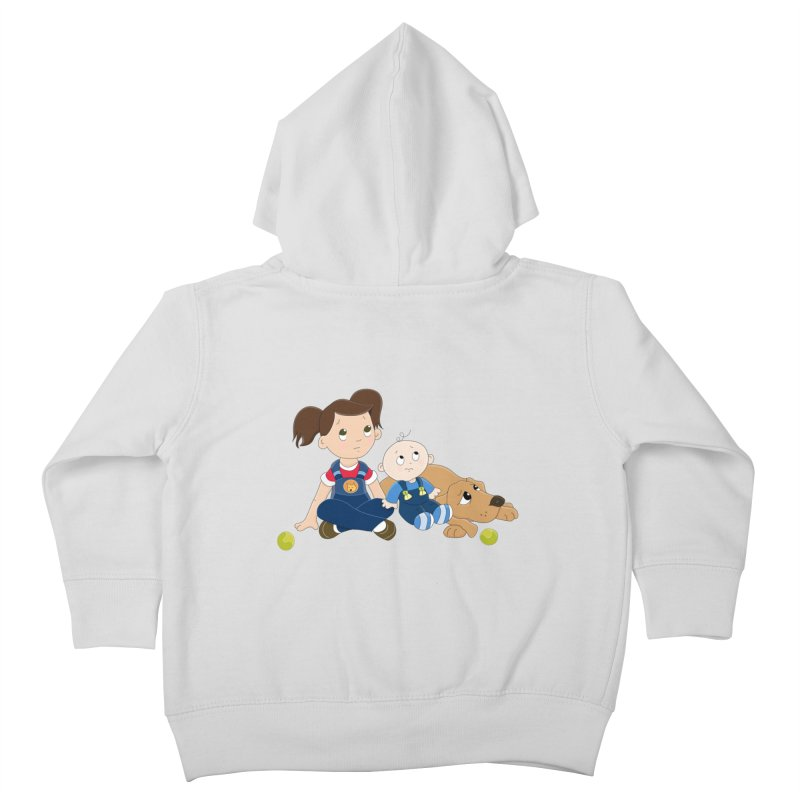 Millie and baby Max- Triple Trouble Kids Toddler Zip-Up Hoody by