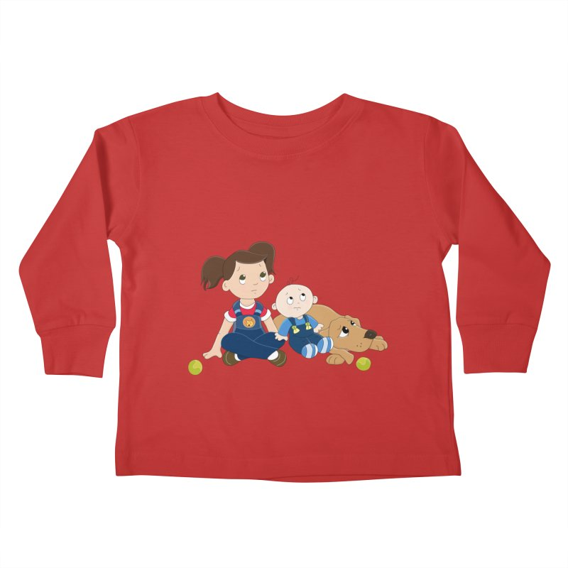 Millie and baby Max- Triple Trouble Kids Toddler Longsleeve T-Shirt by