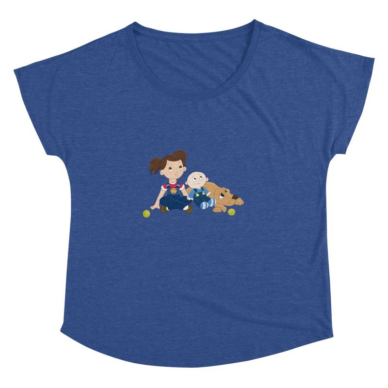 Millie and baby Max- Triple Trouble Women's Dolman by